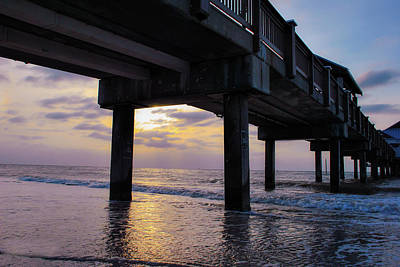 Photograph - Sunset At The Pier by Pamela Williams