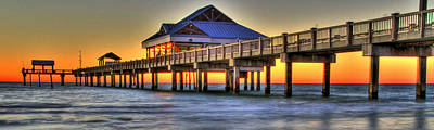 Sunset At The Pier Print by Scott Mahon