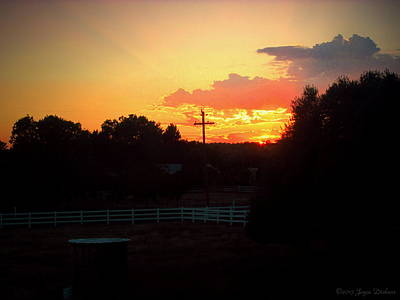 Photograph - Sunset At The Ranch 06 08 15 by Joyce Dickens