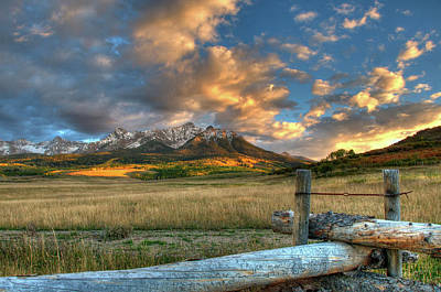 Photograph - Sunset At The Ranch by Steve Stuller