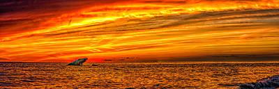 Photograph - Sunset At The Ss Atlantus - Pano by Nick Zelinsky
