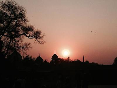 Photograph - Sunset At The Taj by LeLa Becker
