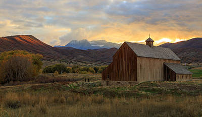 Photograph - Sunset At The Tate Barn. by Johnny Adolphson