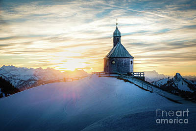 Photograph - Sunset At The Top by Hannes Cmarits