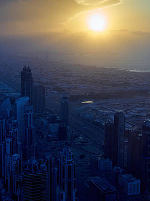 Photograph - Sunset At The Top Of Burj Khalifa by Jouko Lehto