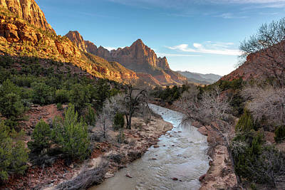 Photograph - Sunset At The Watchman - Zion National Park - Utah by Brian Harig