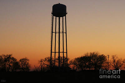 Photograph - Sunset At The Water Tower by Kathy White