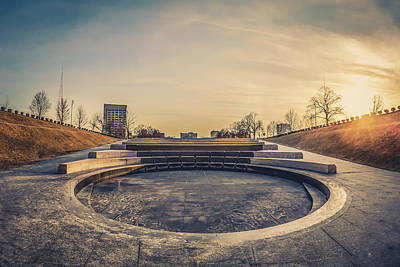 Photograph - Sunset at The WWI Memorial by Daniel Baumer