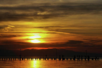 Art Print featuring the photograph Sunset At Thessaloniki by Tim Beach