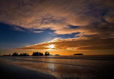 Sunset At Tofino Art Print by Detlef Klahm