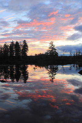 Photograph - Sunset At Tully Lake by John Burk