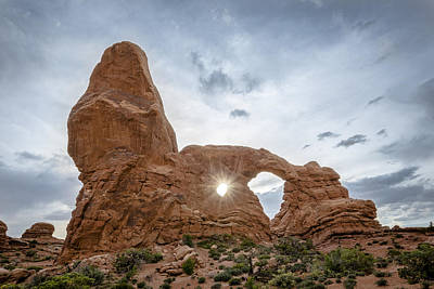 Photograph - Sunset At Turret Arch by Lou  Novick