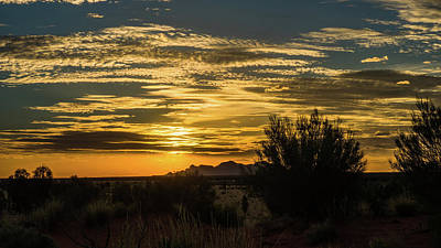 Photograph - Sunset At Uluru by Walt Sterneman