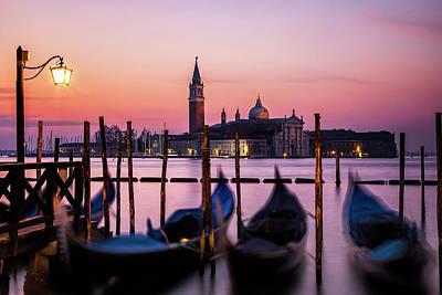 Horizontal Photograph - Sunset At Venice by Andrew Soundarajan