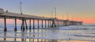 Photograph - Sunset At Venice Beach Pier by Richard Omura