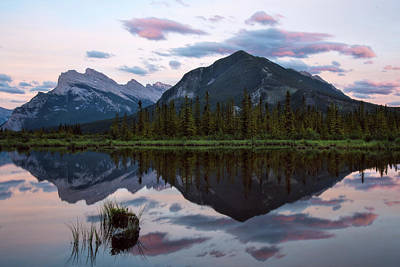 Photograph - Sunset At Vermillion Lakes, Banff Canada by Dave Dilli