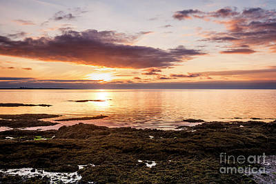 Photograph - sunset at Vogar iceland by Gunnar Orn Arnason