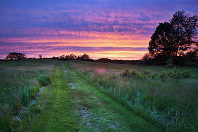 Photograph - Sunset At Wagon Hill, Durham Nh by Eric Gendron