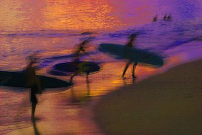 Photograph - Sunset At Waikiki Beach by Tom Sky