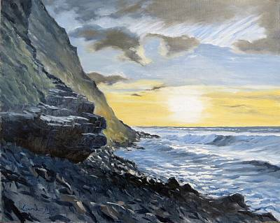 Painting - Sunset At Warren Point Duckpool by Lawrence Dyer