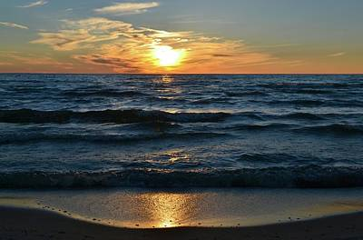 Photograph - Sunset At Wasaga Beach June 21-2017  by Lyle Crump