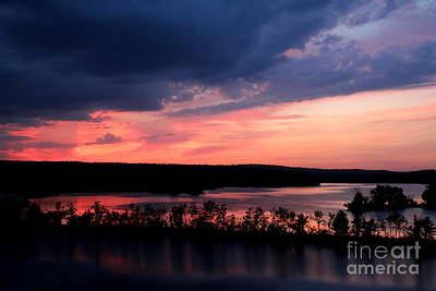 Photograph - Sunset At West Thompson Lake  by Neal Eslinger