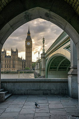 Arches Photograph - Sunset At Westminster by James Udall