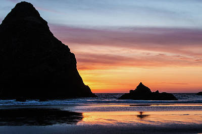 Photograph - Sunset At Whalehead Beach by Jim Adams