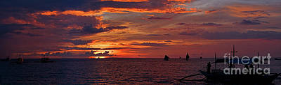 sunset at White Beach Art Print