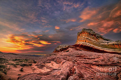 Photograph - Sunset At White Pocket by Peter Dang