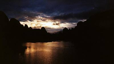 Sunset At Yangshuo In China Art Print by Gosta Eger