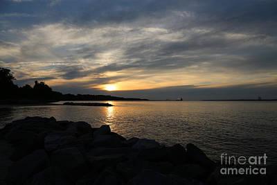 Photograph - Sunset At Yorktown by Lara Morrison