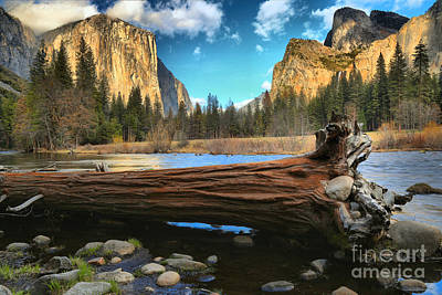Photograph - Sunset At Yosemite Valley View by Adam Jewell