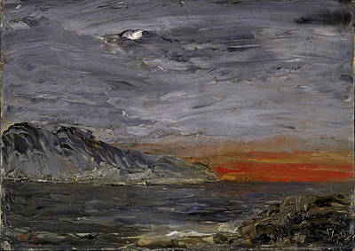 August Strindberg Painting - Sunset by August Strindberg