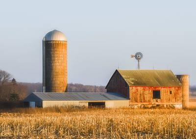 Art Print featuring the photograph Sunset Barn by Dan Traun
