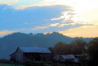 Photograph - Sunset Barn by Paulette Maffucci