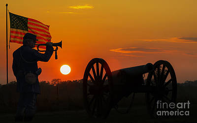 Sunset Battlefield Taps Print by Randy Steele