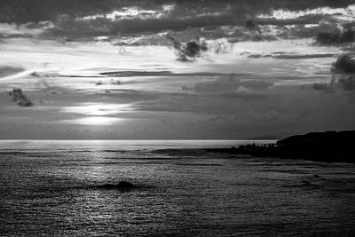Photograph - Sunset Bay In Black And White by Tina Ernspiker