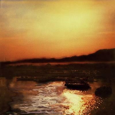 Sunset Bay  Art Print by Paul Tokarski