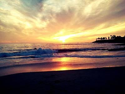 Sunset Beach Art Print by 2141 Photography