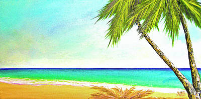 Sunset Beach #373 Art Print by Donald k Hall