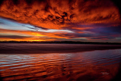 Photograph - Sunset Beach 5 by Bill Posner