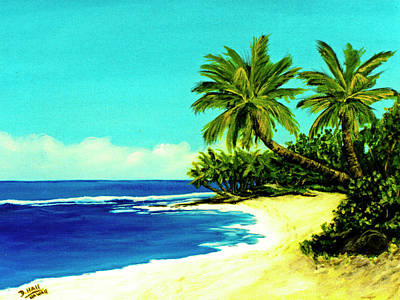 Sunset Beach Art North Shore Of Oahu In Summer #100 Art Print by Donald k Hall