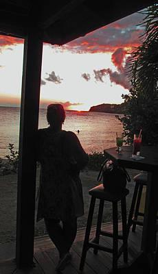 Photograph - Sunset Beach Bar by Ian  MacDonald