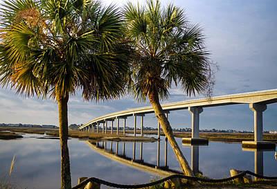 Gerald Monaco Photograph - Sunset Beach Bridge by Gerald Monaco