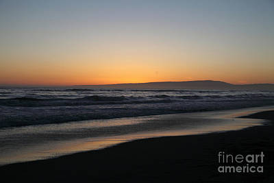 Sunset Beach California Print by Amanda Barcon