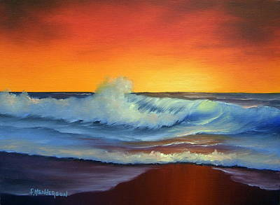 Painting - Sunset Beach by Francine Henderson