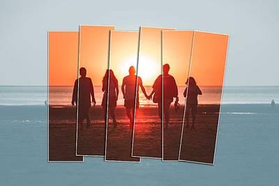 Venice Beach Bungalow - Sunset Beach Fun 2 by Celestial Images