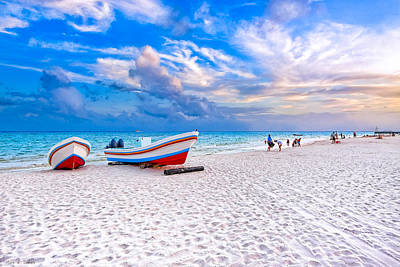 Photograph - Sunset Beach Memories - Playa Del Carmen by Mark E Tisdale