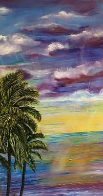 Tranquility At Sunset Lagoon Original
